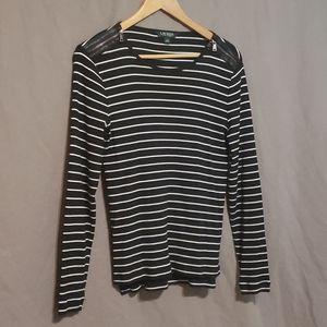 Lauren Ralph Lauren striped long sleeve tee